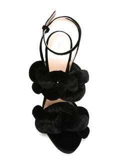 Босоножки С Бархатной Отделкой Marco De Vincenzo                                                                                                              черный цвет