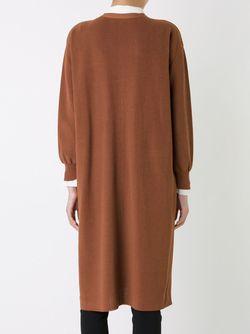 Удлиненный Кардиган LE CIEL BLEU                                                                                                              коричневый цвет