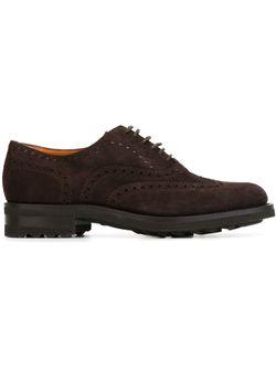 Туфли Броги Santoni                                                                                                              коричневый цвет