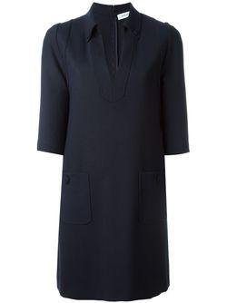 Платье С Рукавами Три Четверти Mauro Grifoni                                                                                                              синий цвет