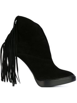 Fringed Stiletto Booties Burberry Prorsum                                                                                                              чёрный цвет
