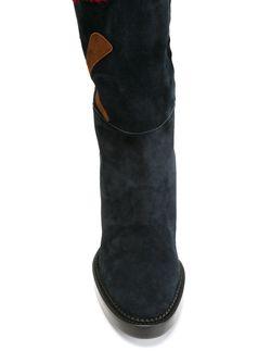 Thigh High Patchwork Boots Burberry Prorsum                                                                                                              синий цвет
