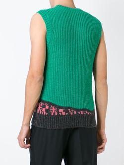 Knitted Vest Raf Simons                                                                                                              зелёный цвет