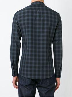 Рубашка В Клетку Mauro Grifoni                                                                                                              серый цвет