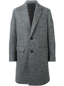 Однобортное Пальто Neil Barrett                                                                                                              серый цвет