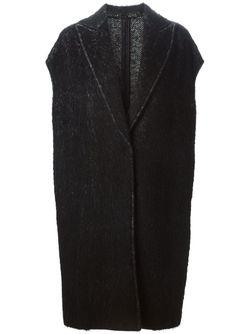 Пальто С Узором Елочкой Alberto Biani                                                                                                              чёрный цвет