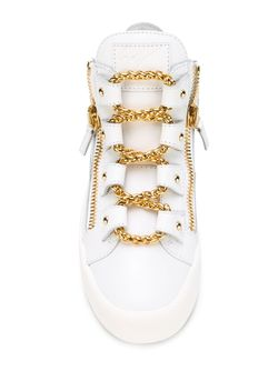 Хайтопы С Молниями Kriss Giuseppe Zanotti Design                                                                                                              белый цвет