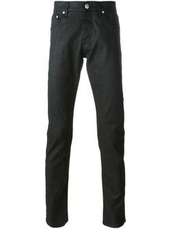 Джинсы С Вощеным Покрытием Alexander McQueen                                                                                                              чёрный цвет