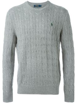 Cable Knit Sweater Polo Ralph Lauren                                                                                                              серый цвет