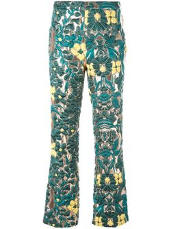 Brocade Trousers GIULIETTA NEW YORK                                                                                                              зелёный цвет