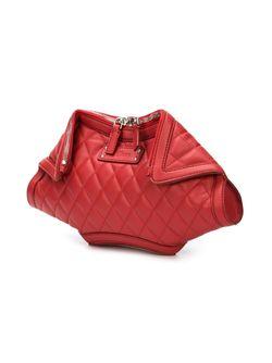 Стеганый Клатч De Manta Alexander McQueen                                                                                                              красный цвет