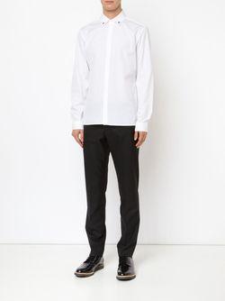 Рубашка Со Звездами На Воротнике Neil Barrett                                                                                                              белый цвет
