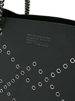 Сумка-Тоут Metropoli Metal Grommet Marc by Marc Jacobs                                                                                                              черный цвет