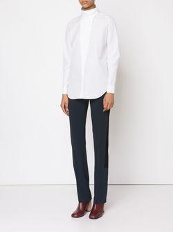 Рубашка С Воротником-Стойкой Cedric Charlier                                                                                                              белый цвет