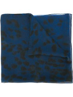 Шарф С Леопардовым Принтом Alexander McQueen                                                                                                              синий цвет