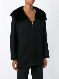 Куртка С Отделкой И Меха Норки Agnona                                                                                                              чёрный цвет