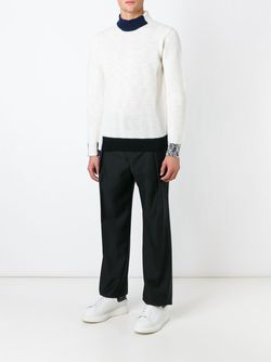 Contrasting Trims Sweater Raf Simons                                                                                                              белый цвет