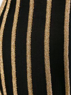 Брюки В Полоску С Завышенной Талией Balmain                                                                                                              черный цвет