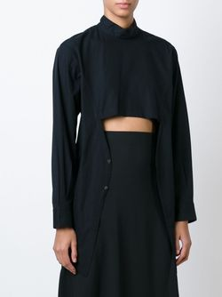 Рубашка С Открытой Панелью Спереди Comme Des Garcons                                                                                                              черный цвет