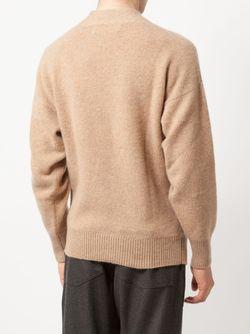 Свитер С V-Образным Вырезом The Elder Statesman                                                                                                              коричневый цвет
