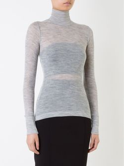 Ribbed Fine Knit Sweater T By Alexander Wang                                                                                                              серый цвет