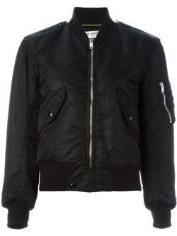 Укороченная Куртка-Бомбер Saint Laurent                                                                                                              чёрный цвет