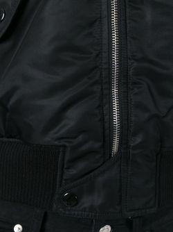 Укороченная Куртка-Бомбер Saint Laurent                                                                                                              черный цвет