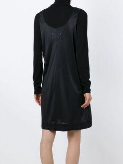 Домашнее Платье С Принтом Из Фольги Maison Margiela                                                                                                              черный цвет