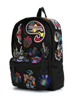 Embellished Patch Backpack MSGM                                                                                                              чёрный цвет