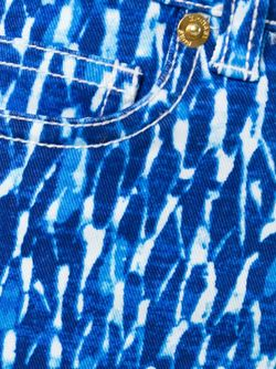 Укороченные Джинсы С Принтом Michael Michael Kors                                                                                                              синий цвет
