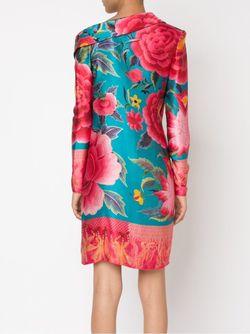 Асимметричное Платье С Цветочным Принтом JEAN PAUL GAULTIER VINTAGE                                                                                                              зелёный цвет