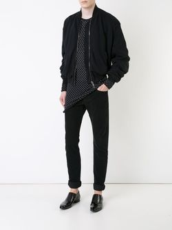 Draped Bomber Jacket Haider Ackermann                                                                                                              чёрный цвет