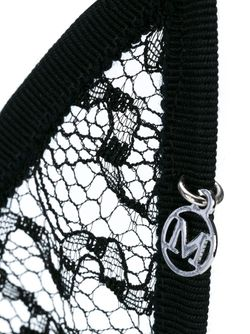 Ободок С Заячьими Ушами Из Кружева Maison Michel                                                                                                              чёрный цвет