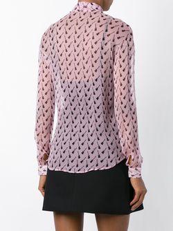 Блузка С Принтом Гитар Au Jour Le Jour                                                                                                              розовый цвет