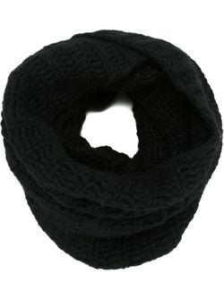 Трикотажный Шарф-Снуд Ann Demeulemeester                                                                                                              чёрный цвет