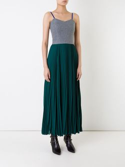 Pleated Maxi Dress LE CIEL BLEU                                                                                                              серый цвет