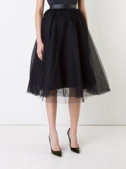 Tulle Flared Skirt LE CIEL BLEU                                                                                                              черный цвет