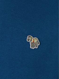 Свитер С Вышивкой Зебры Paul Smith Jeans                                                                                                              синий цвет