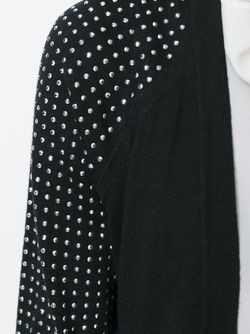 Embellished Sleeves V-Neck Cardigan Michael Michael Kors                                                                                                              черный цвет