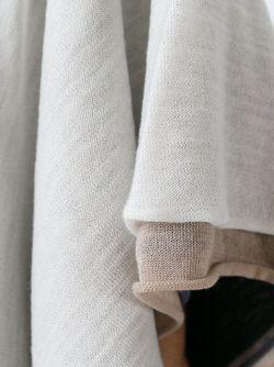 Многослойное Укороченное Пончо PLEATS PLEASE BY ISSEY MIYAKE                                                                                                              белый цвет