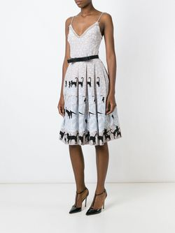 Плиссированное Платье С Принтом Holly Fulton                                                                                                              Nude & Neutrals цвет