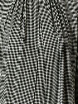 Расклешенное Платье В Ломаную Клетку Maison Kitsune                                                                                                              черный цвет