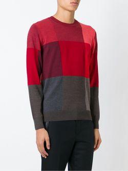 Свитер Дизайна Колор-Блок PS PAUL SMITH                                                                                                              красный цвет