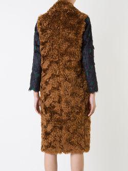 Long Teddy Gilet LE CIEL BLEU                                                                                                              коричневый цвет