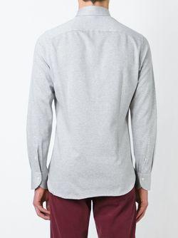 Рубашка С Мелким Принтом Canali                                                                                                              серый цвет