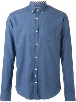 Рубашка С Нагрудным Карманом Woolrich                                                                                                              синий цвет
