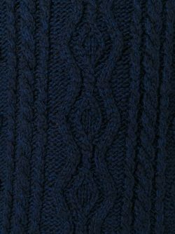 Трикотажной Свитер Вязки Косичка 08SIRCUS                                                                                                              синий цвет