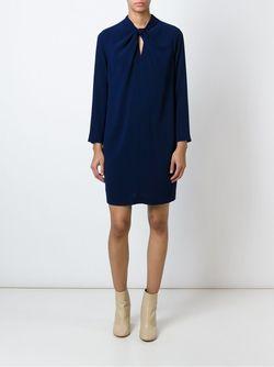 Платье С Перекрученной Деталью Aspesi                                                                                                              синий цвет