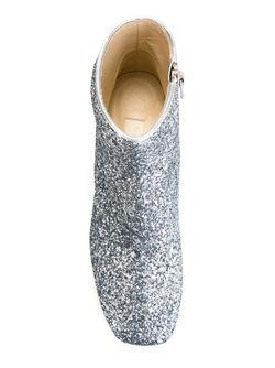Блестящие Ботинки На Контрастном Каблуке L' Autre Chose                                                                                                              серебристый цвет