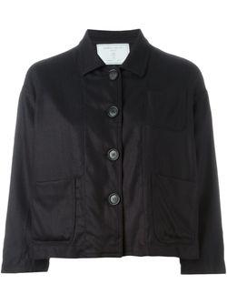 Укороченный Пиджак На Пуговицах SOCIETE ANONYME                                                                                                              черный цвет